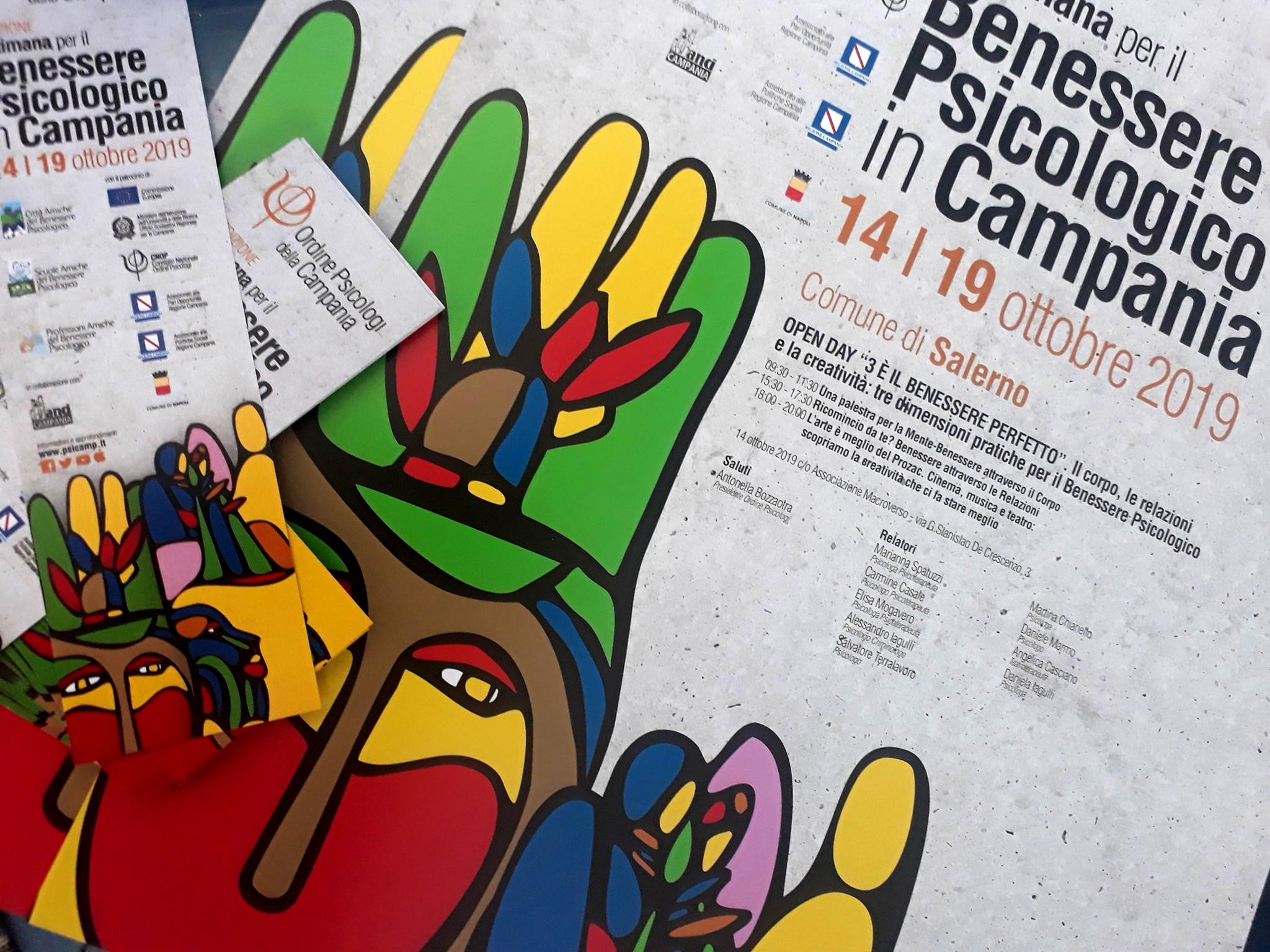 Settimana del benessere psicologico 2019 Salerno